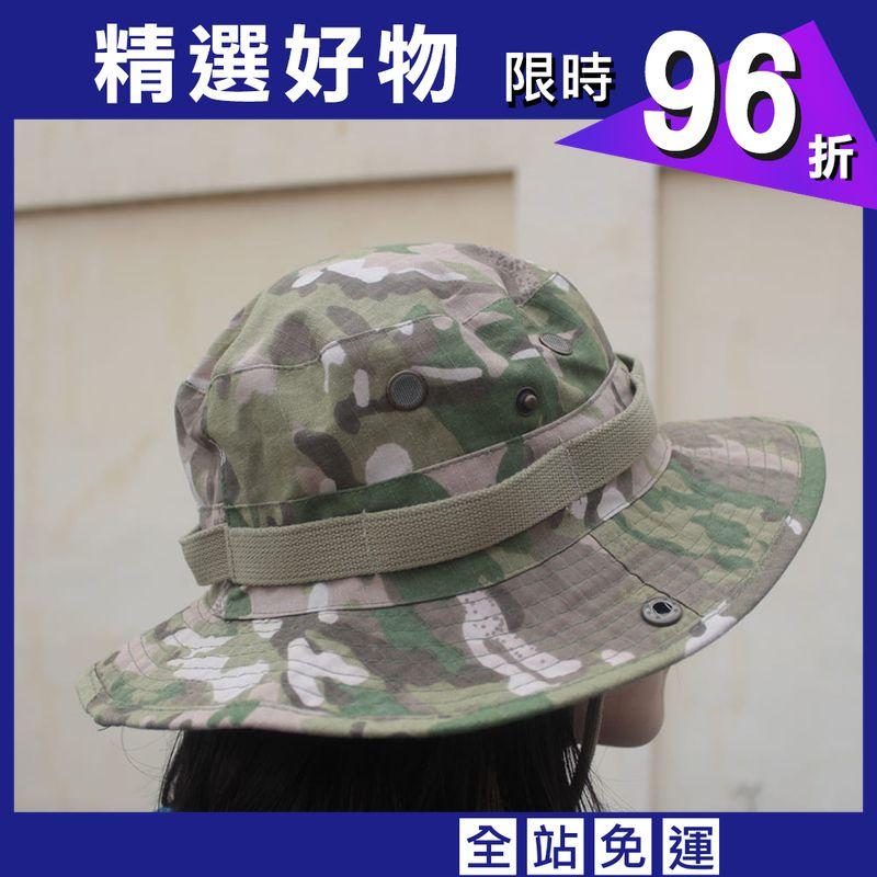 可翻釦迷彩風戶外遮陽帽漁夫帽